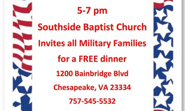 Southside Baptist hosts dinner for military families